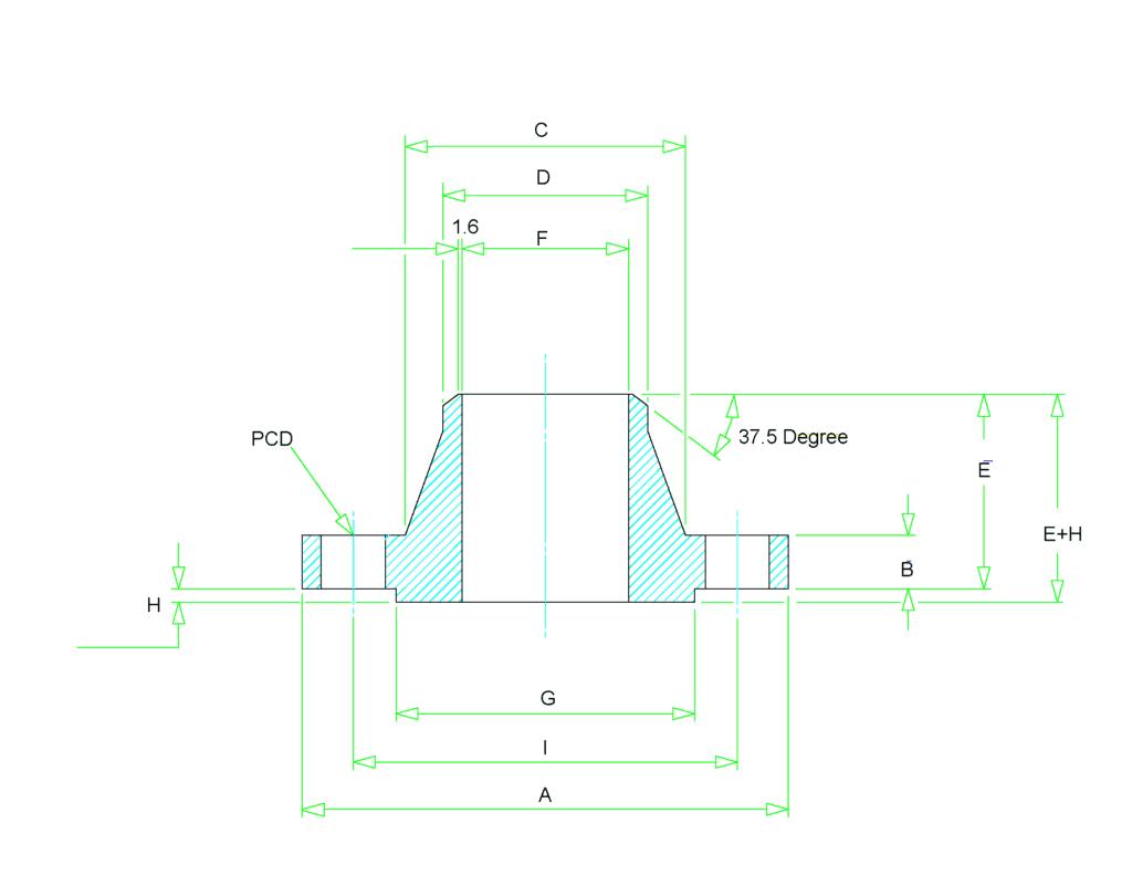 weld neck flange dimensions1 1024x791 - Weld Neck Flange