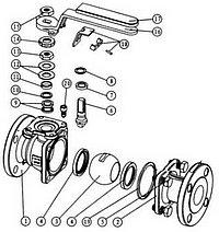 Ball valve installation diagram