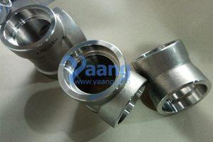 ASME B16.11 A182 UNS S32750 Socket Weld Tee 2
