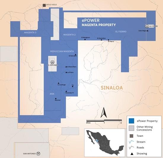 41794303e2f21f49ecbb6002 - Epower metals acquires magenta high grade cobalt gold project in sinaloa mexico
