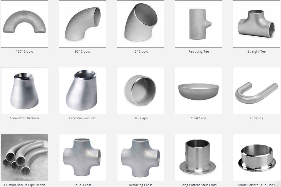 shapes of butt weld fittings - Pipe, flange, pipe fitting, gasket