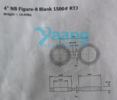 20200828005606 34071 - ASME B16.48 A182 UNS S31600 Figure-8 Blank RTJ 4 Inch Class1500