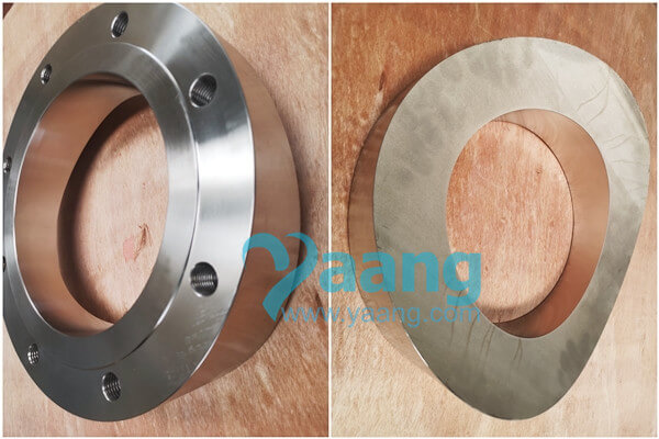 """ansi b16 5 astm a182 alloy 321 pad flange raised face 8 class 150 - ANSI B16.5 ASTM A182 Alloy 321 Pad Flange Raised Face 8"""" Class 150"""