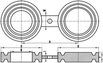 asme b16.48 fig 8 bl frtj 1 - ASME B16.48 A182 UNS S31600 Figure-8 Blank RTJ 4 Inch Class1500