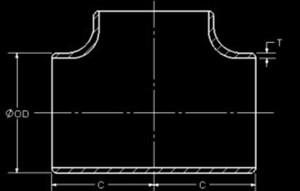 20210603080928 38950 - ASME B16.9 ASTM B366 W.Nr.2.4858 Equal Tee 10 Inch SCH120