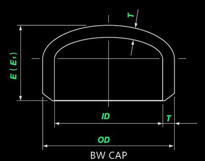 20210603231405 26477 - ASME B16.9 ASTM B366 W.Nr.2.4858 Pipe Cap 10 Inch SCH100