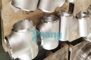 ASME B16.9 ASTM B366 W.Nr.2.4858 Equal Tee 10 Inch SCH120