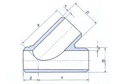 20210806220122 10822 - ASME B16.9 WP316L 45DEG SMLS Straight Lateral Tee DN500 SCH80